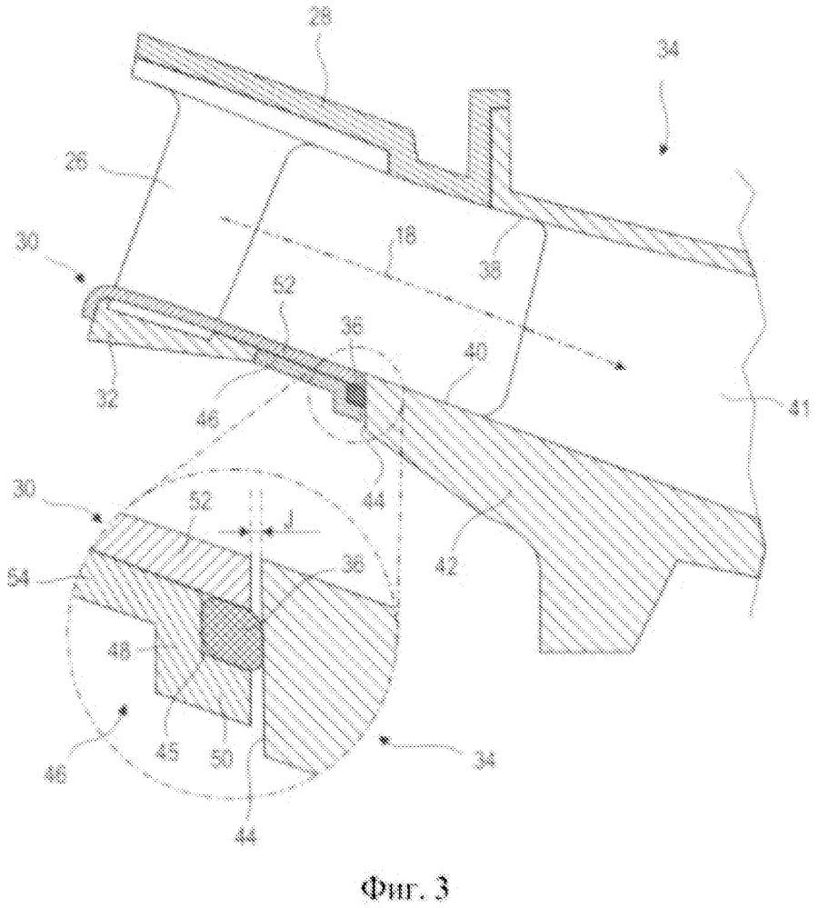 Уплотнительная прокладка внутреннего кольца последней ступени осевого компрессора газотурбинного двигателя