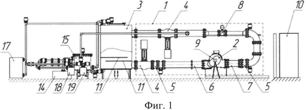 Стенд для проведения параметрических испытаний масштабных моделей проточных частей насосного оборудования и масштабная модель насоса