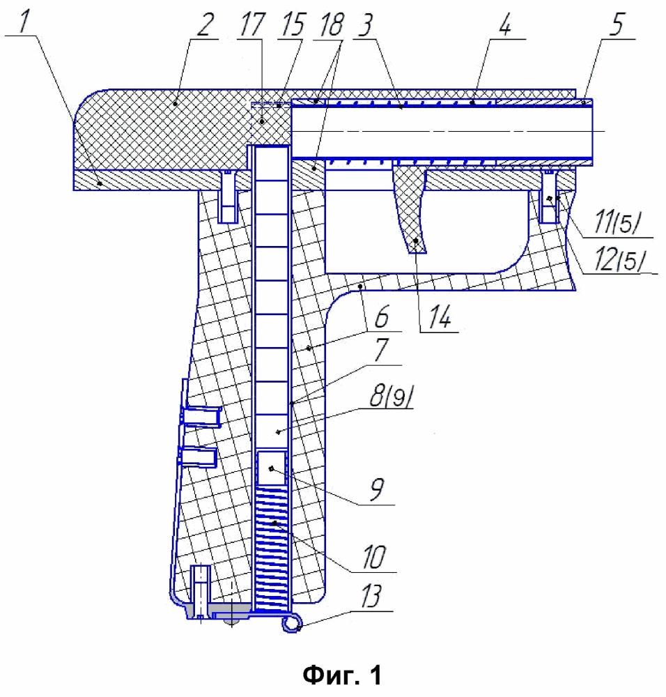 Диспенсер для кускового сахара, имитирующий пистолет