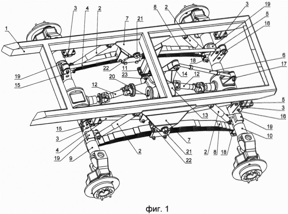 Устройство балансирной подвески колес транспортного средства