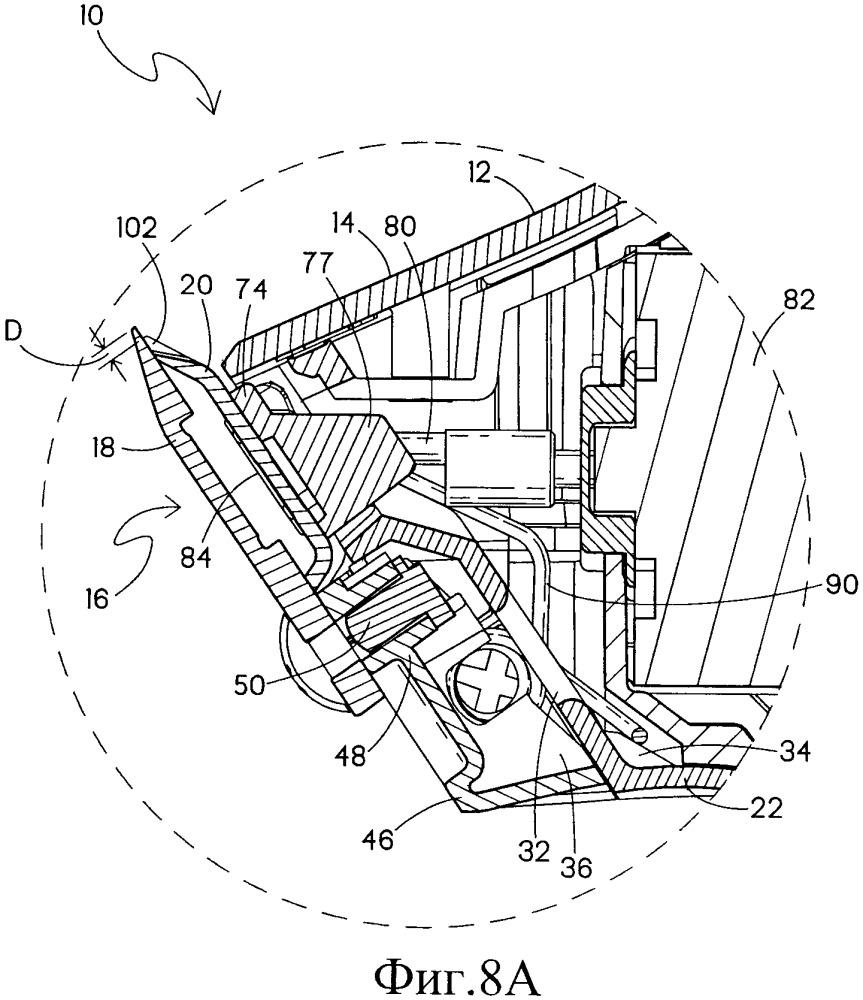 Лезвийный блок машинки для стрижки волос типа триммер с настраиваемыми лезвиями