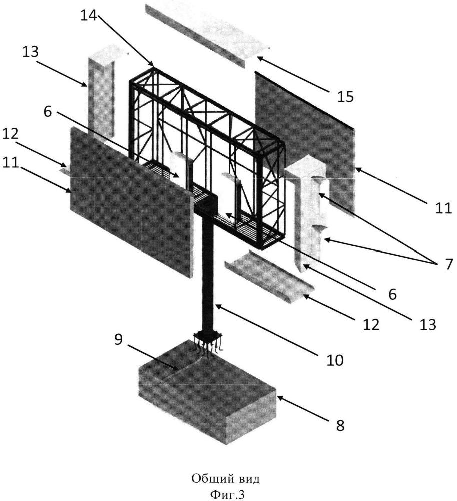 Многофункциональное устройство средства размещения наружной рекламы и подвижной радиосвязи с использованием репитеров