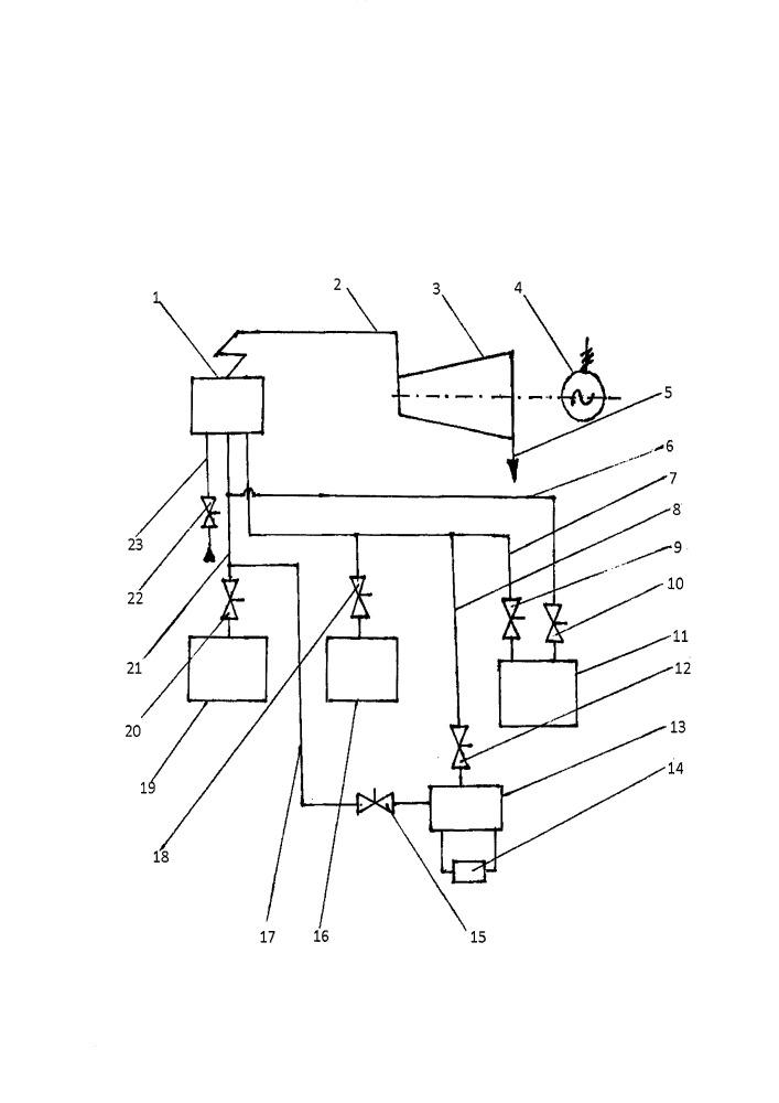Тепловая паротурбинная электростанция с парогенерирующей водородно-кислородной установкой