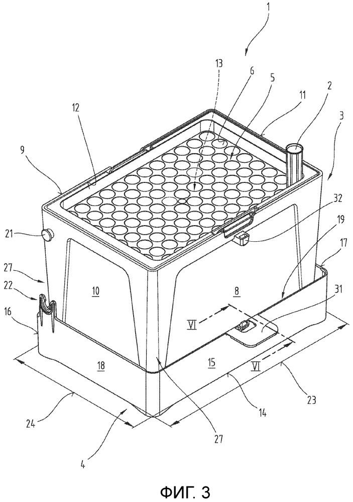 Приемный контейнер наконечников пипеток, а также способ его подготовки