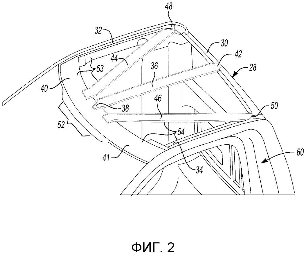 Конструкция крыши для поддержания панели крыши транспортного средства (варианты)
