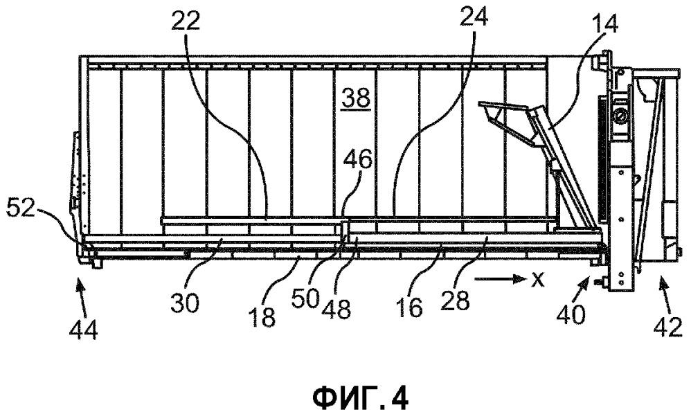 Выталкивающее устройство и самосвальное транспортное средство, содержащее выталкивающее устройство