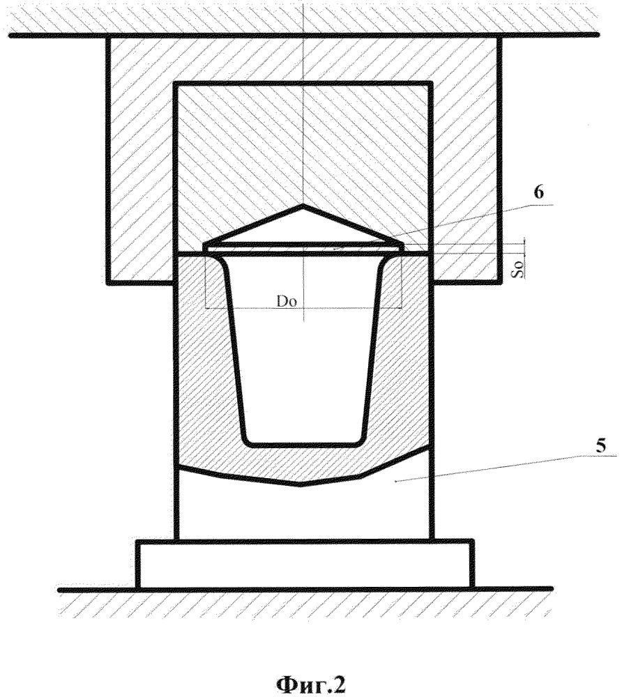 Способ штамповки-вытяжки оболочечных листовых деталей пластичной средой