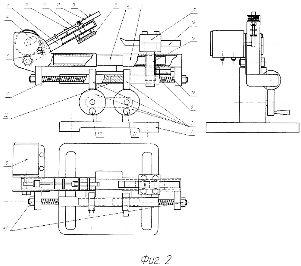 Приспособление для шлифования фасок и тарелок клапанов двигателей
