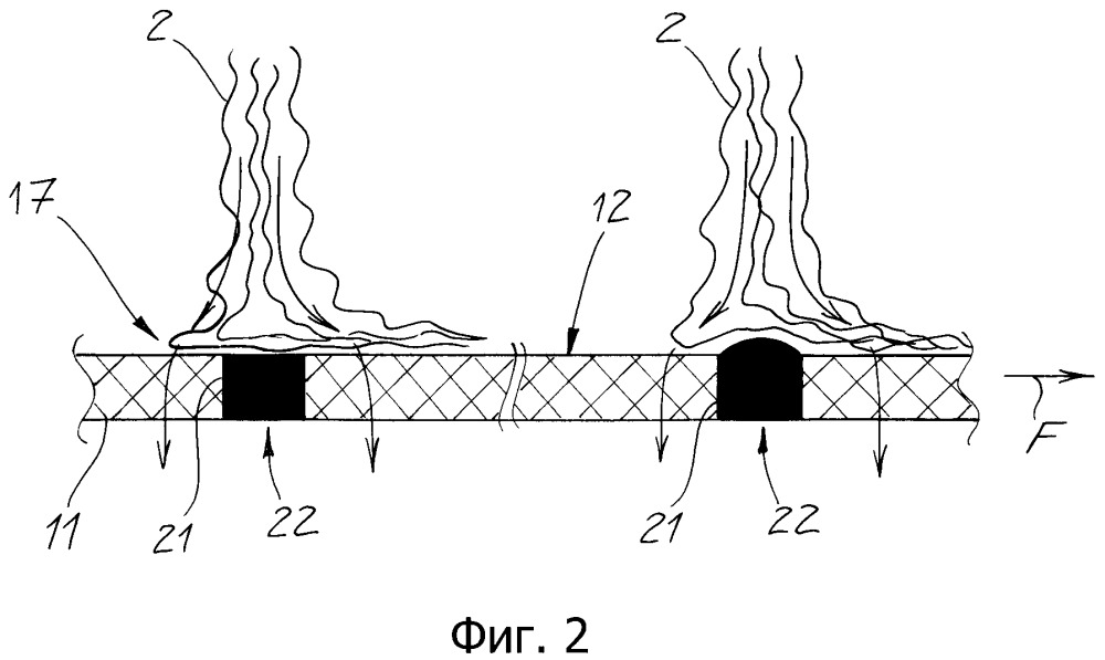 Устройство и способ изготовления нетканых материалов из элементарных волокон