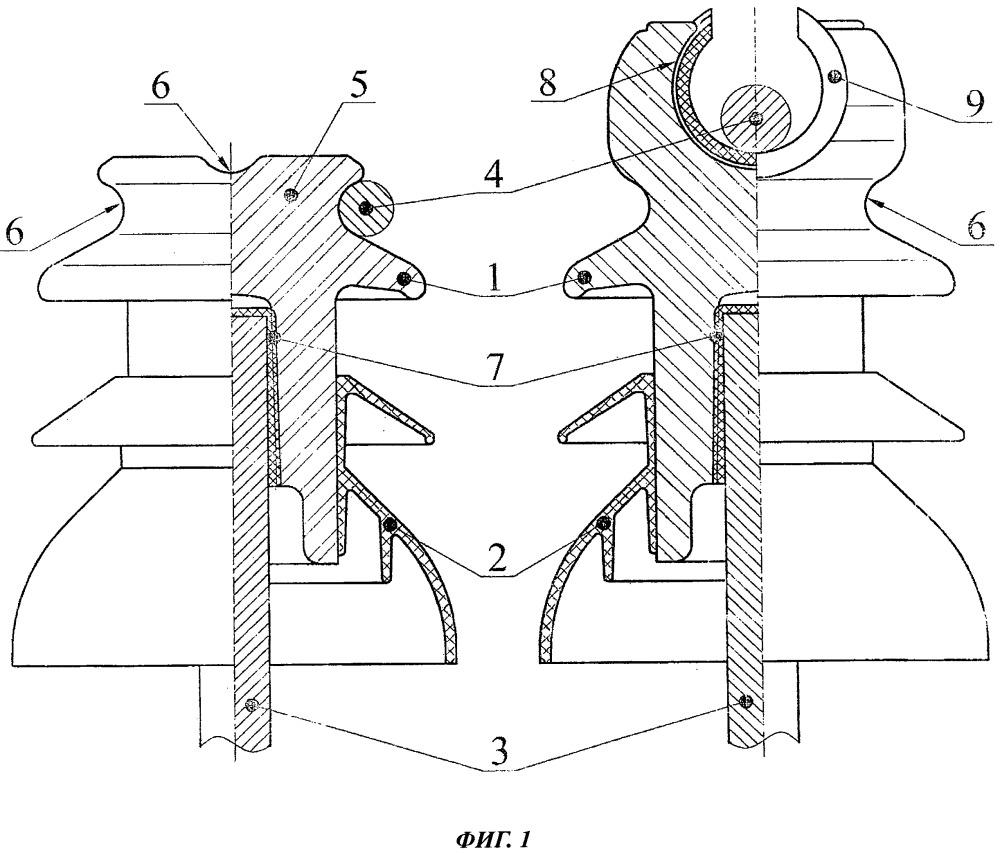Штыревой линейный изолятор