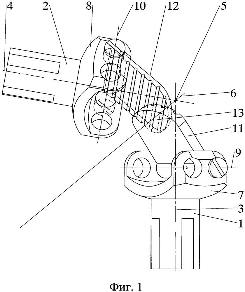 Узел зацепления валов для синхронной передачи усилия вращения между валами