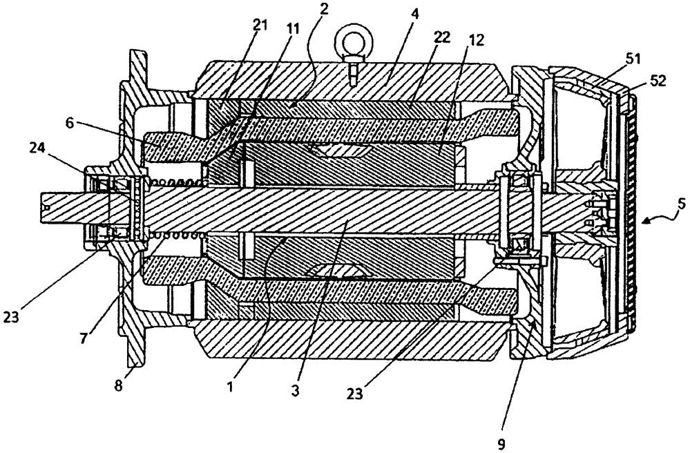 Электродвигатель с многопрофильным многосекционным скользящим ротором