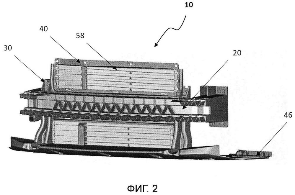 Моноблочная часть переднего блока для автотранспортного средства, узел моноблочной части переднего блока для автотранспортного средства и способ изготовления моноблочной части переднего блока для автотранспортного средства