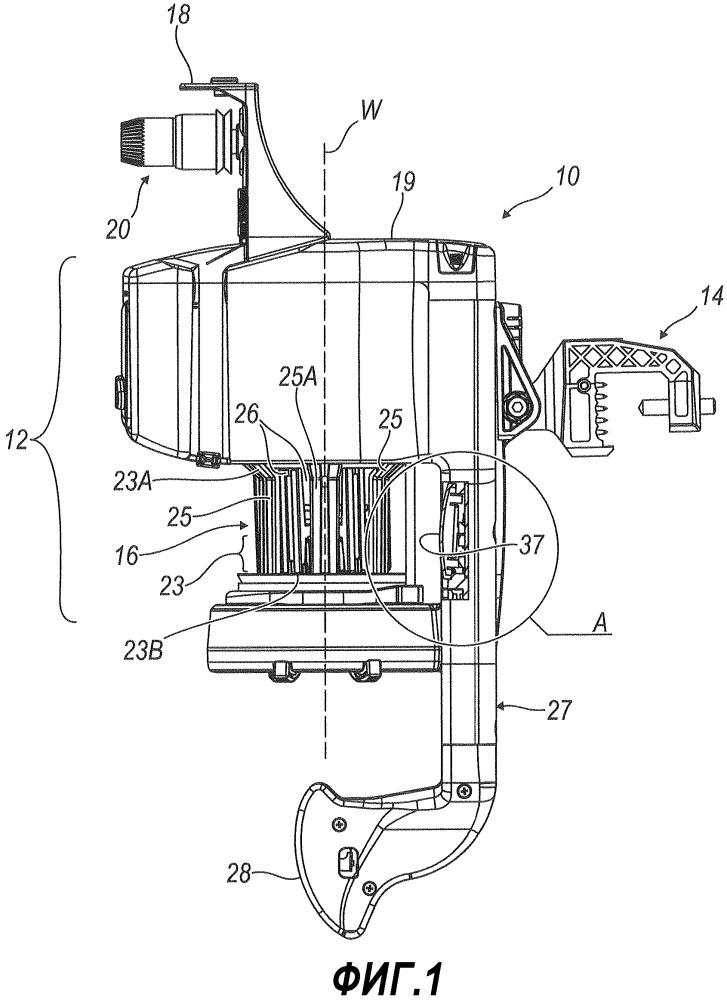 Устройство для подачи нити с вращаемым барабаном и средствами определения плотности витков нити на барабане