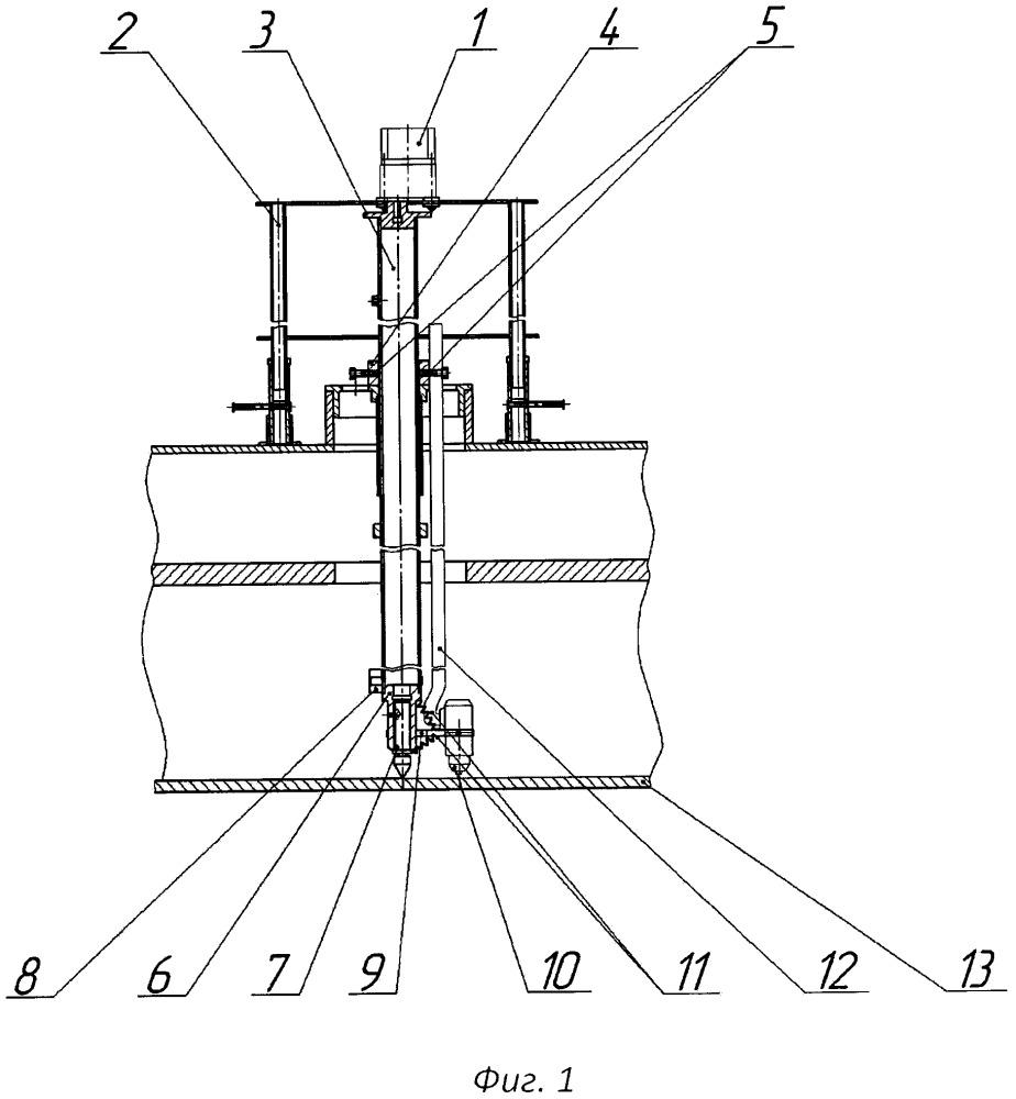 Устройство для дистанционной резки металлоконструкций выводимых из эксплуатации ядерных реакторов