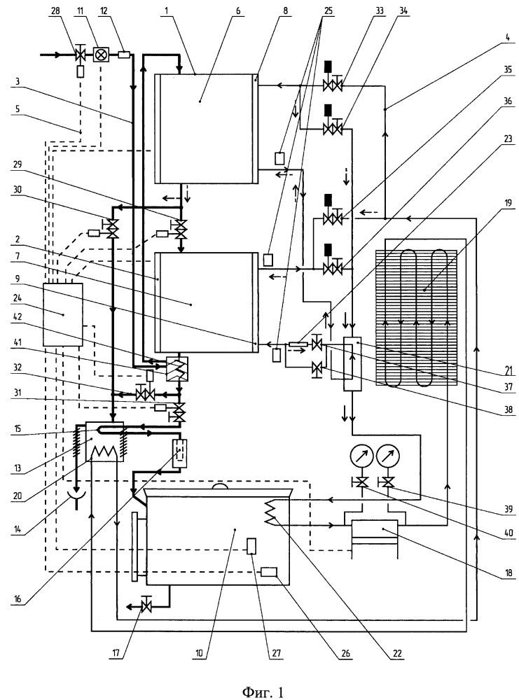 Система очистки воды методом перекристаллизации и теплообменное устройство для системы