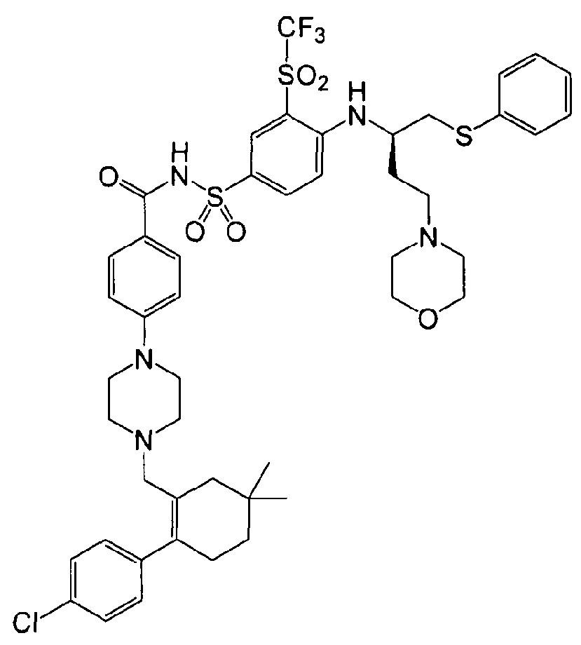 Фармацевтическая дозированная форма для перорального введения ингибитора семейства bcl-2