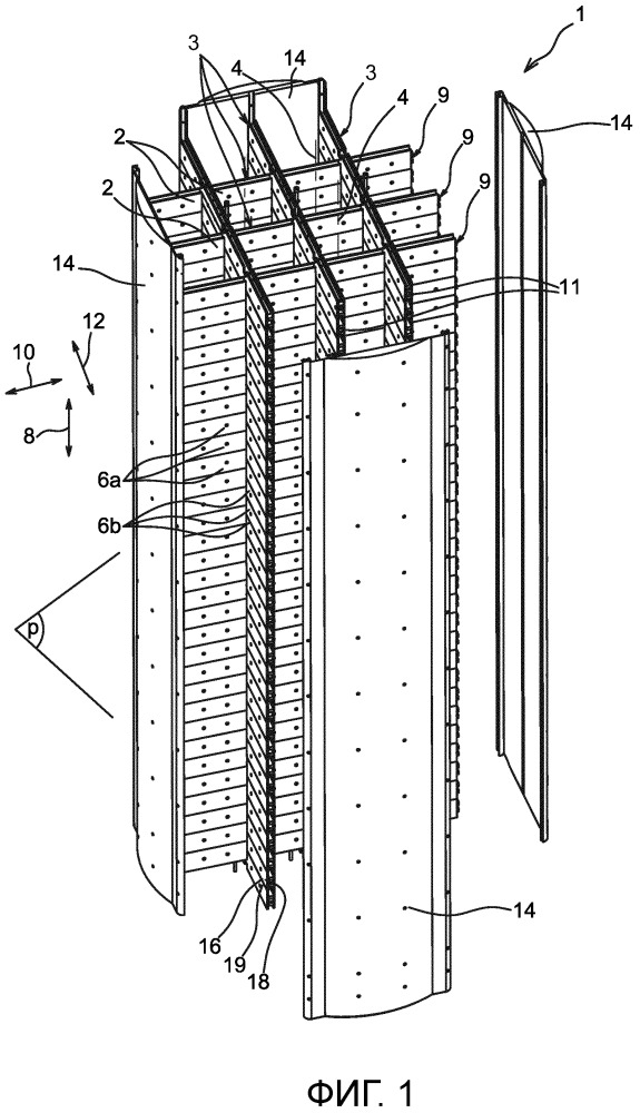 Усовершенствованное устройство хранения для хранения и/или транспортировки тепловыделяющих сборок
