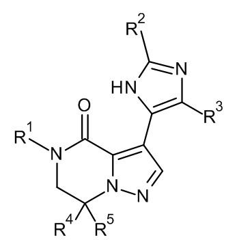 6,7-дигидропиразоло[1,5-a]пиразин-4(5h)-оновые соединения и их применение в качестве отрицательных аллостерических модуляторов рецепторов mglur2