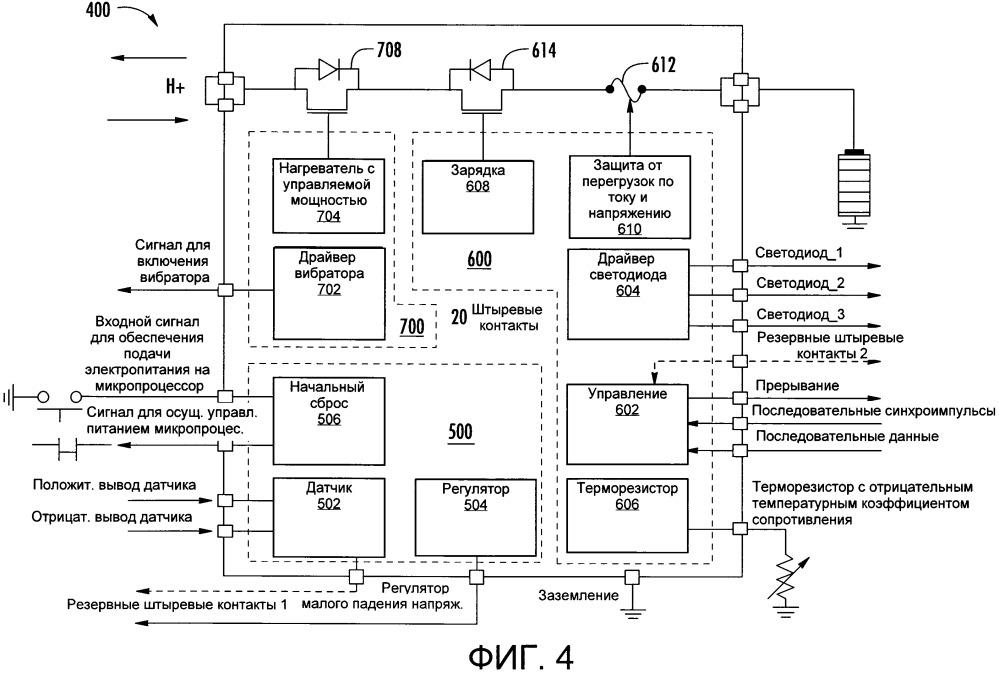 Специализированная интегральная схема для устройства доставки аэрозоля