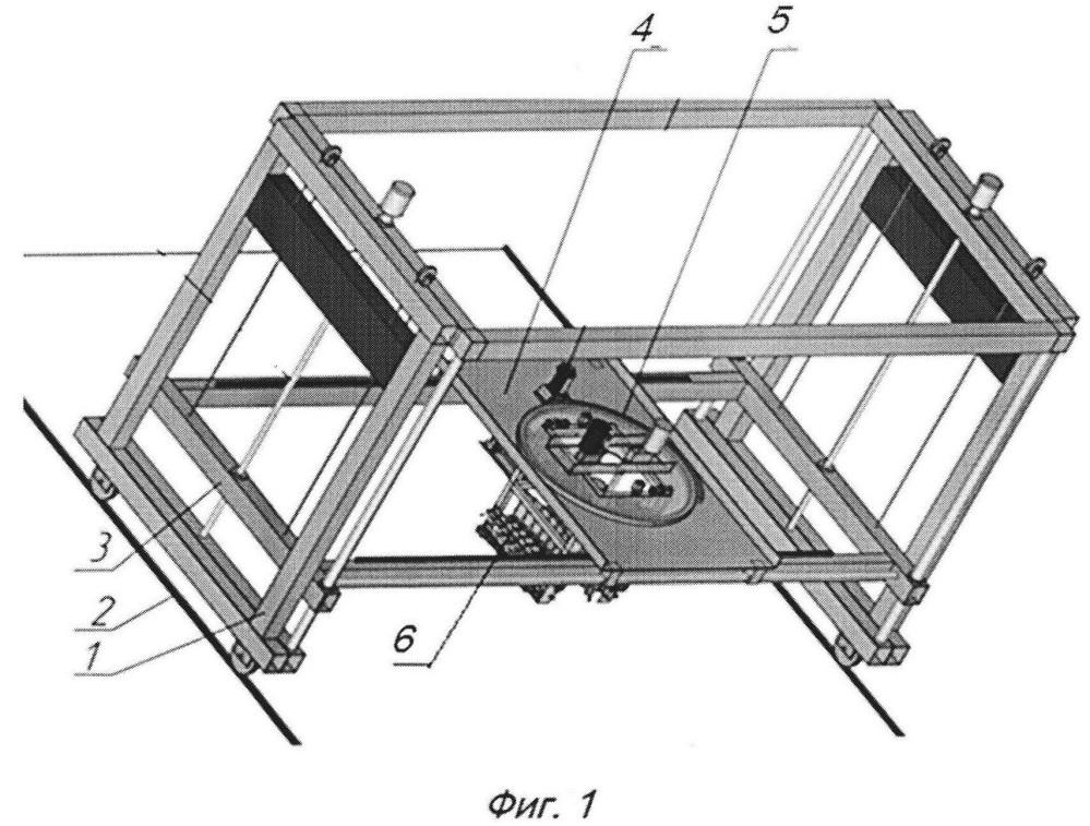 Устройство для трехмерной печати зданий и архитектурно-строительных модулей