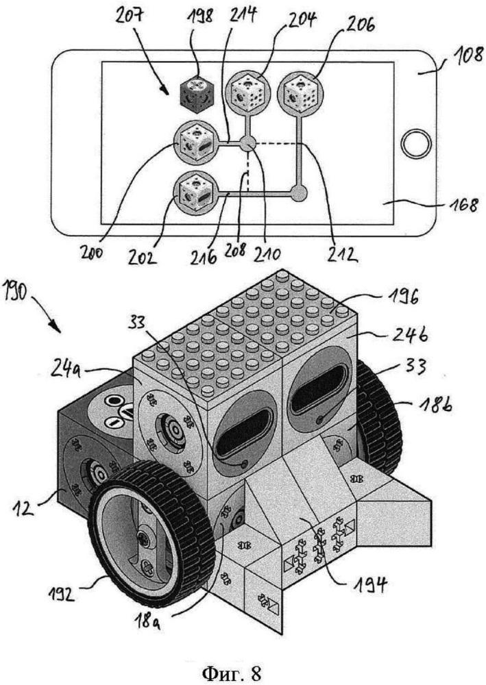 Модульная система и способ обмена информацией и/или энергией между модулями модульной системы