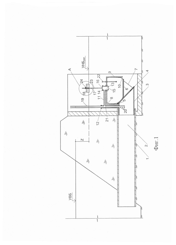Автоматизированный водовыпуск для регулирования уровня нижнего бьефа