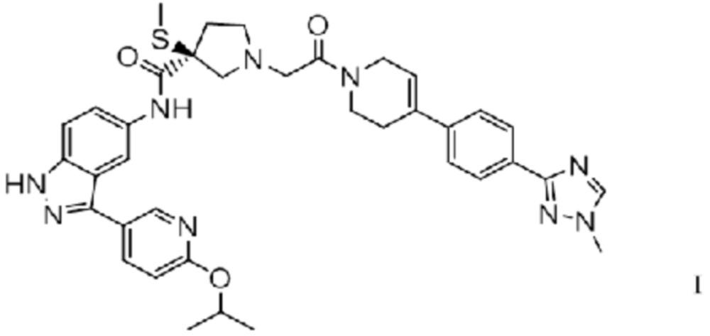 (s)-n-(3-(6-изопропоксипиридин-3-ил)-1h-индазол-5-ил)-1-(2-(4-(4-(1-метил-1h-1,2,4-триазол-3-ил)фенил)-3,6-дигидропиридин-1(2н)-ил)-2-оксоэтил)-3-(метилтио)пирролидин-3-карбоксамидные композиции для фармацевтических препаратов