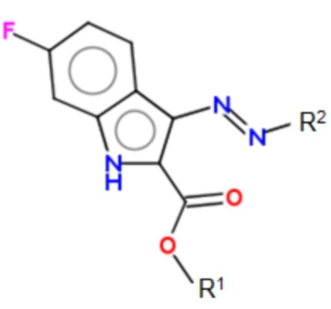 Применение 6-фтор-3-триазеноиндолов для терапии инфекций, вызванных mrsa