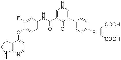 Кристаллическая форма малеата конденсированного пиридинового производного и способы ее применения