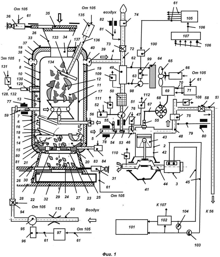 Способ работы газогенераторной электроустановки и газогенераторная электроустановка