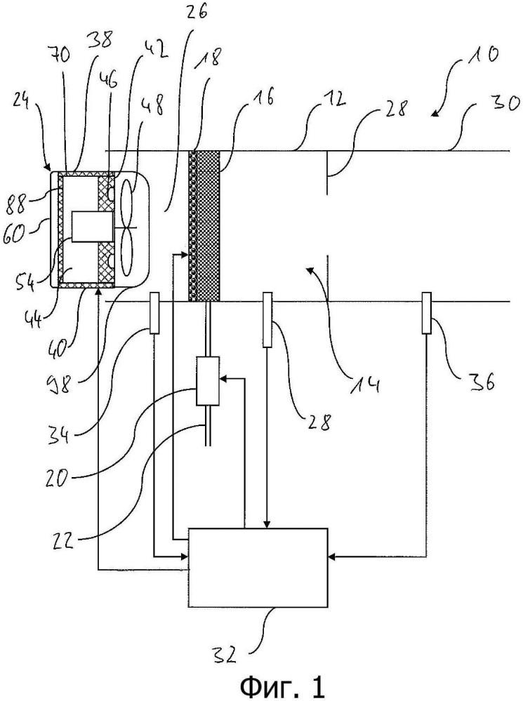 Вентилятор-нагнетатель воздуха, необходимого для сгорания