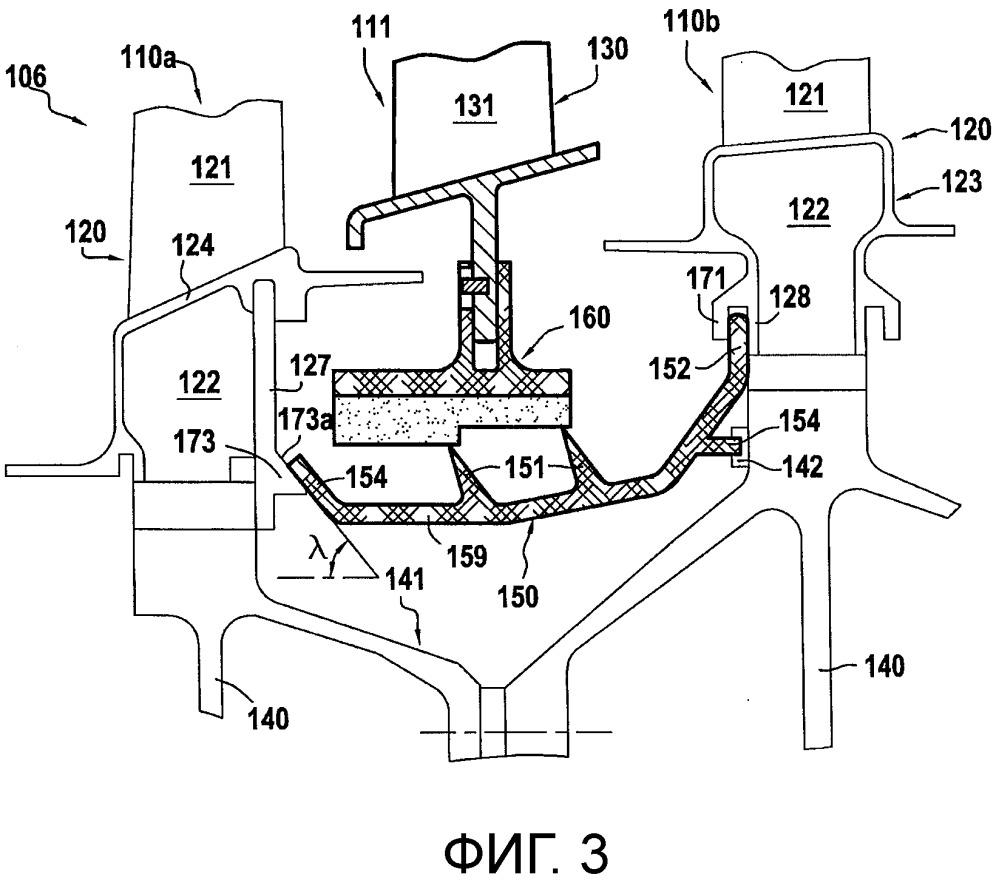 Ротационный узел для турбинного двигателя, содержащего самоподдерживающийся кожух ротора