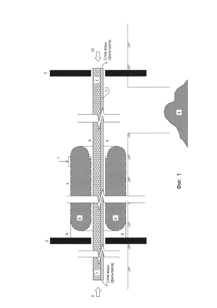 Геотуба и установка для разделения суспензий при помощи фильтрования с использованием геотубы (варианты)