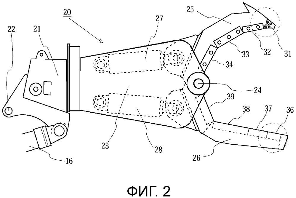 Механические ножницы для демонтажа большого самолета и рабочее транспортное средство для демонтажа большого самолета