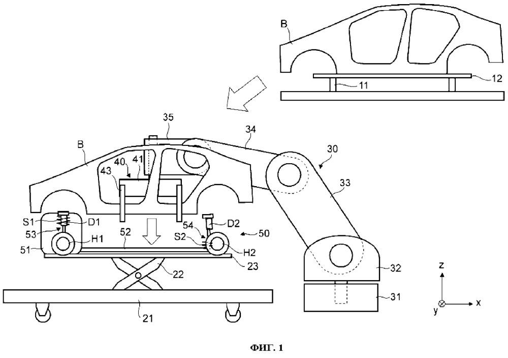 Способ изготовления автомобиля и зажимное удерживающее приспособление для изготовления автомобиля