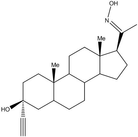 3α-этинил,3β-гидрокси,5α-прегнан-20-оксим для применения при лечении расстройств цнс