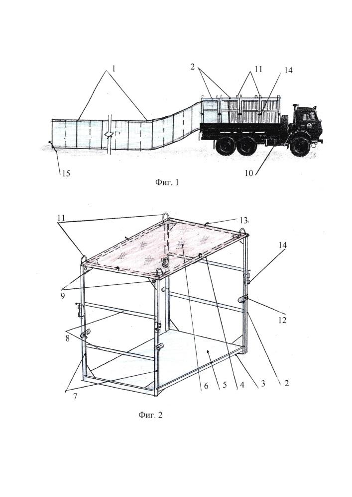 Устройство для механизированной установки габионов