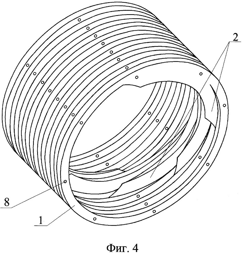 Эластомерная футеровка цапфы барабанной мельницы и модульный элемент футеровки цапфы