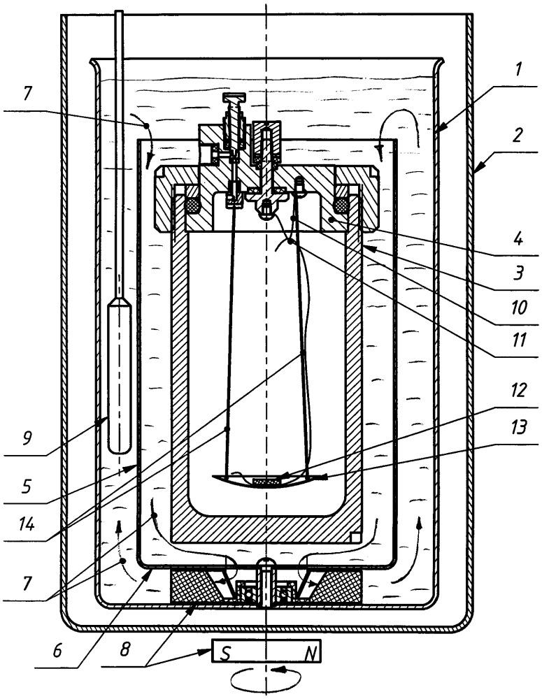 Бомбовый калориметр переменной температуры для определения удельной объемной теплоты сгорания горючего газа