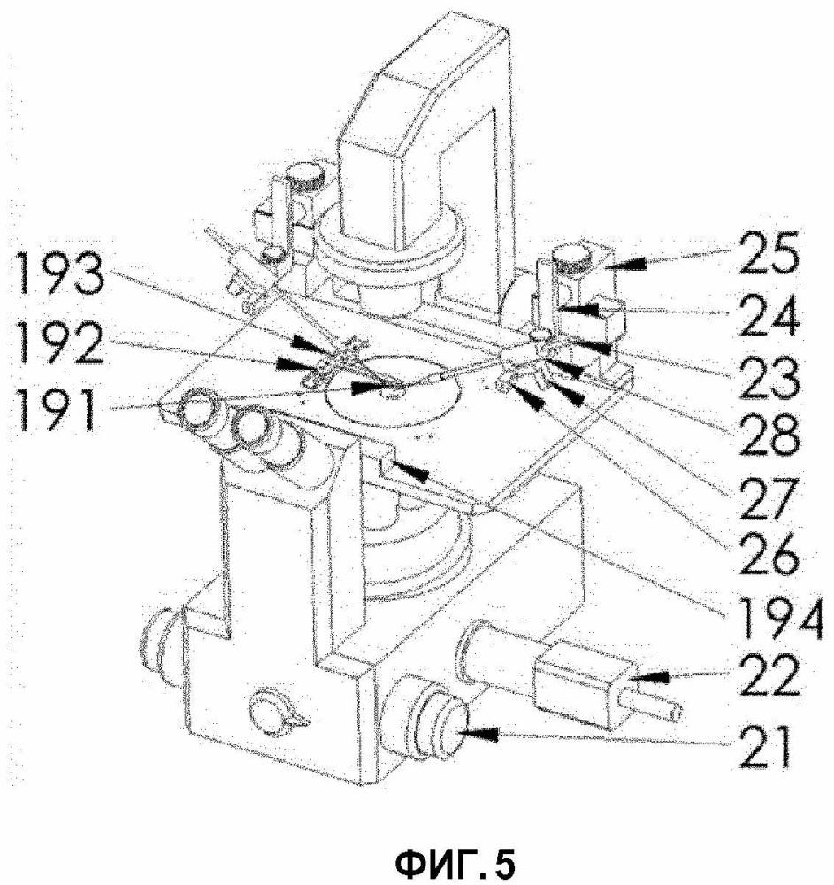 Устройство формирования микроскопических изображений с помощью зеркала и система и способ калибровки положения микроиглы