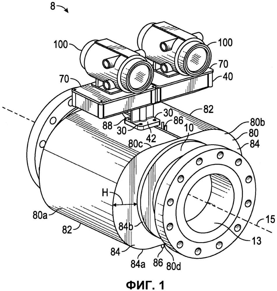Расходомер, содержащий корпусный узел для электронных средств