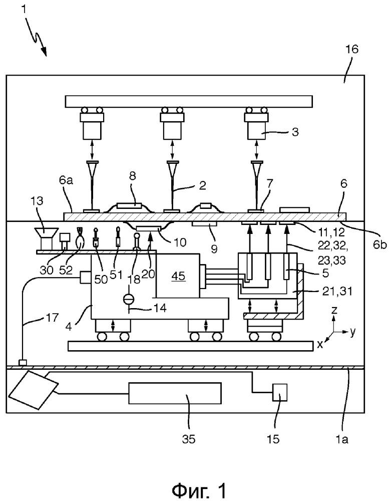Тестовая система для контроля электронных соединений элементов с печатной платой