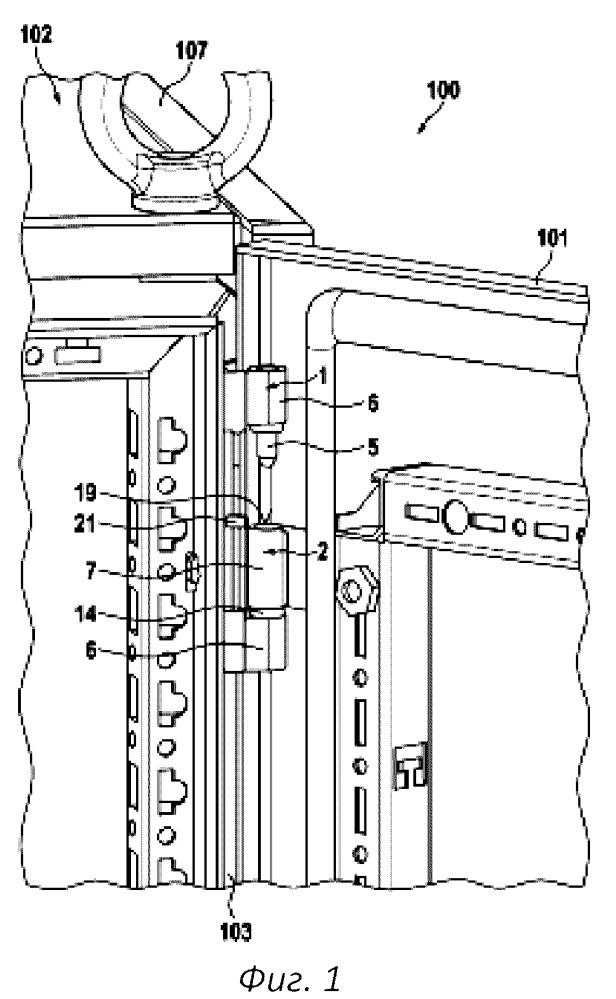 Шарнирный узел для распределительного шкафа