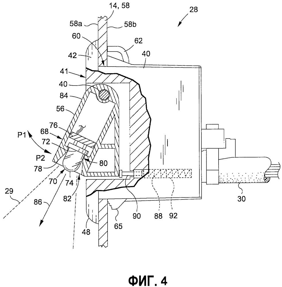 Осветительный модуль спинки сиденья