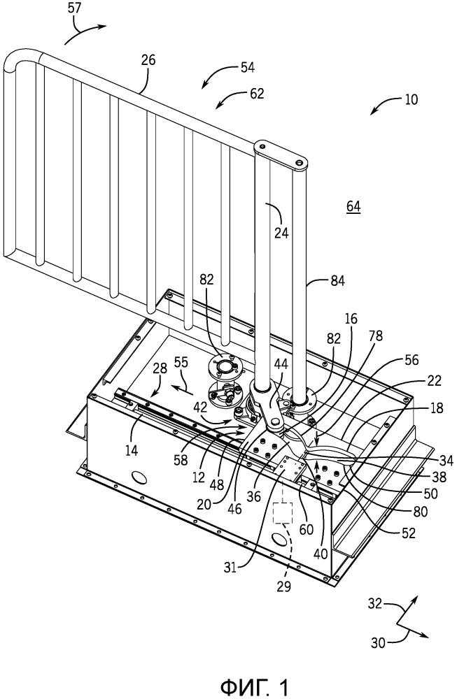 Ворота для управления потоком людей с кулачковым фиксатором