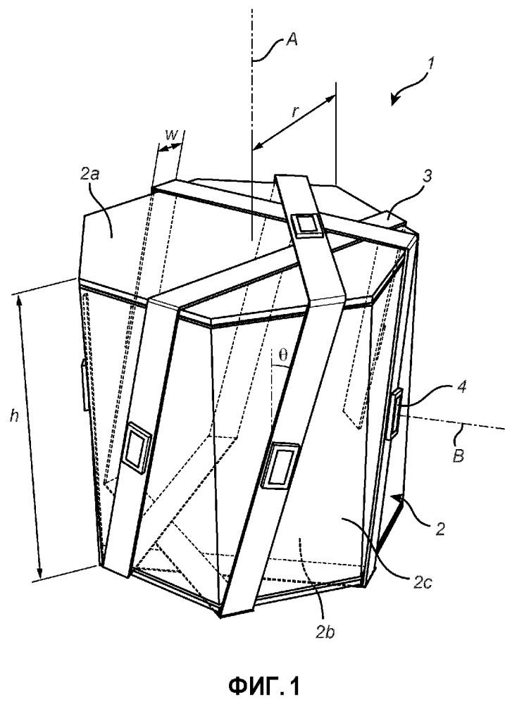 Осветительное устройство с лентой гибкой печатной платы, намотанной вокруг опорной части