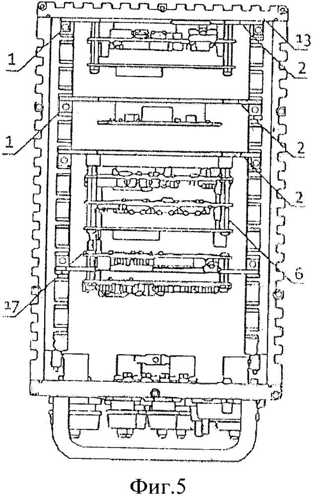 Система кондуктивного теплоотвода от электронных модулей стекового форм-фактора для корпусных изделий электроники