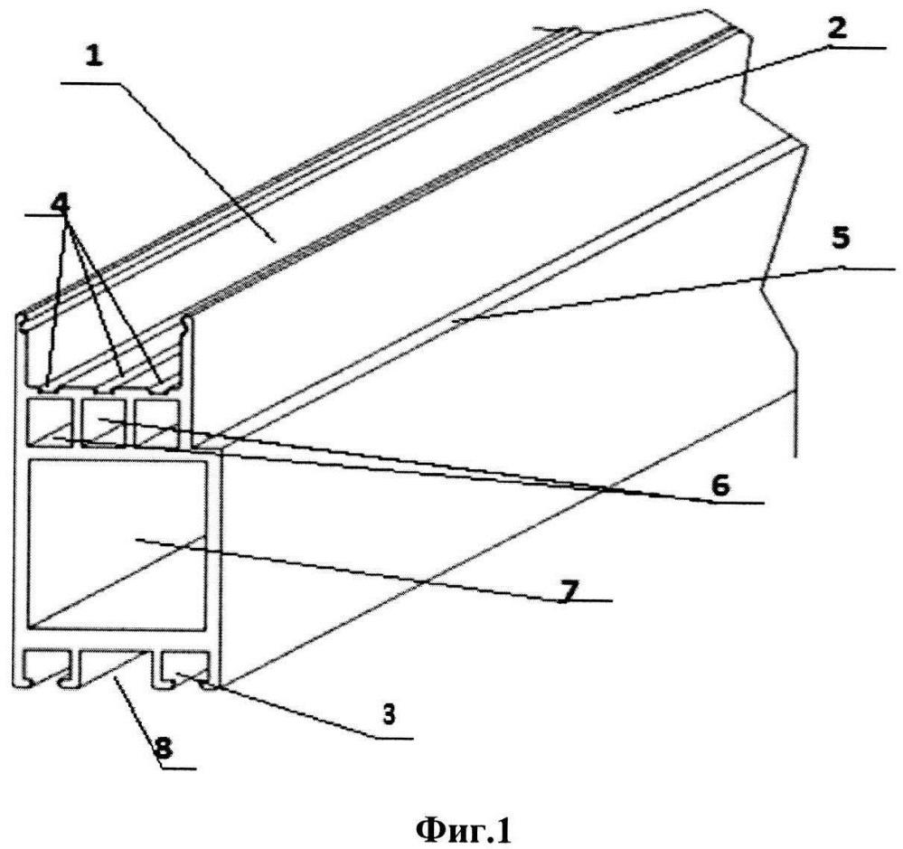 Вертикальный боковой алюминиевый профиль под механизм распахивания