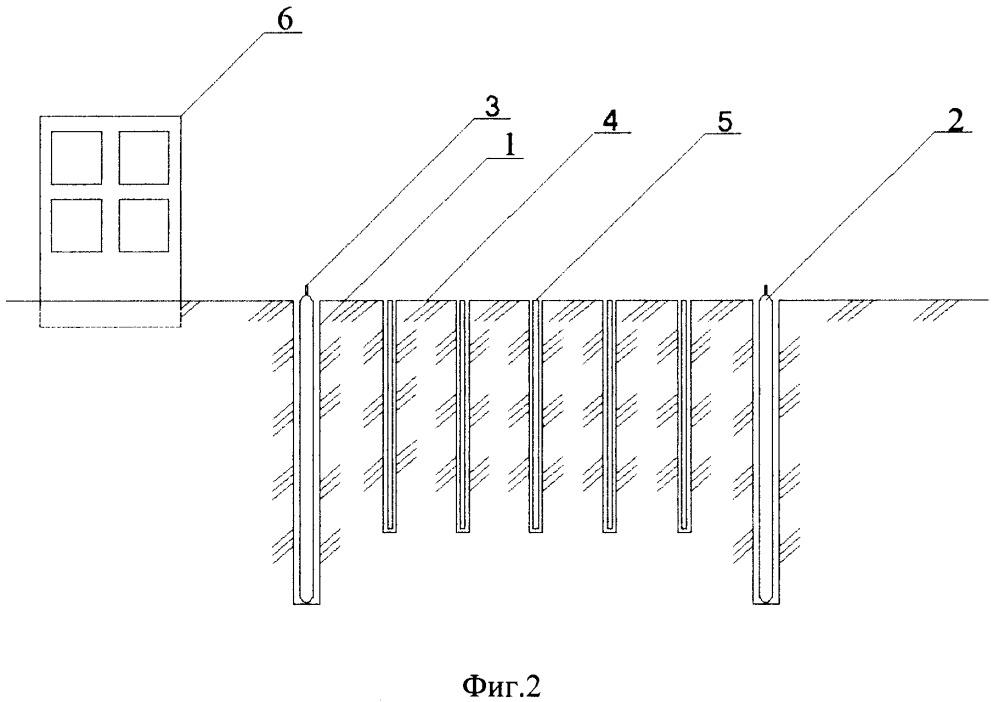 Устройство для защиты зданий или сооружений от глубинных взрывов